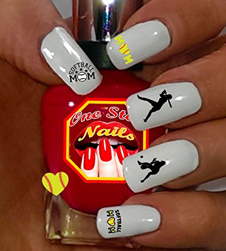 Amazon Softball Mom For You Set Of 78 Clear Waterslide Nail