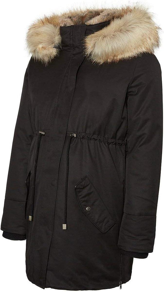 Black Black Mamalicious Womens Mlaruna Zippy Side Padded Jacket Black Large