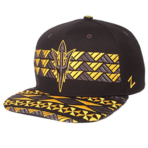 Zephyr NCAA Arizona State Sun Devils Men's Kolohe Snapback Hat, Adjustable, Black/Team Color ()