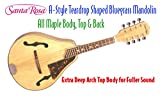 Santa Rosa MAND11 Mandolin Deep Arch Top Body Teardrop Shaped A Style All Maple