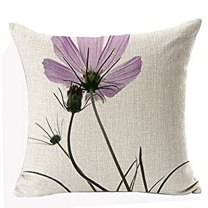 European Cushion Decorative Cushion Small Pink Flowers Colorful Pillow case,18inch