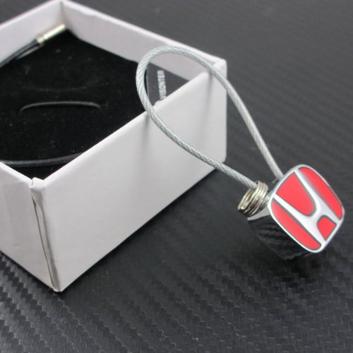 with Box Honda Metal Wire Cable Keychain