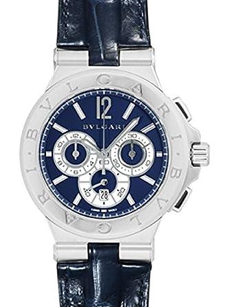 0dd774802ed4 [ブルガリ] BVLGARI 腕時計 ディアゴノ カリブロ303 世界限定500本 ブルー SS/レザー