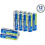 Westinghouse 2100mAh NH rechargeable batteries, 5 years low self discharge, 2000 times cycle life, free battery storage box (AA, 12 counts)