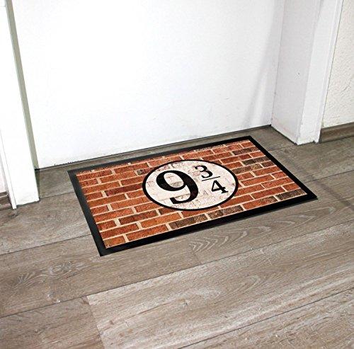 1art1 Brick Walls Door Mat Floor Mat - Platform Nine And Three-Quarters (24 x 16 inches)