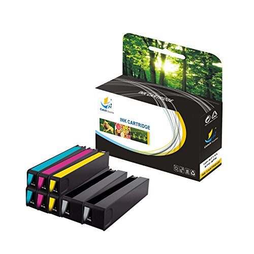 Catch Supplies 970XL 971XL 8 Pack Replacement High Yield Ink Cartridge Compatible with HP OfficeJet Pro X476DN X551DW X576DW Printers  Black CN625AM, Cyan CN626AM, Magenta CN627AM, Yellow CN628AM  by Catch Supplies