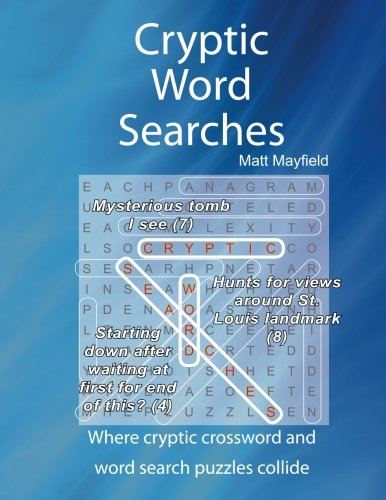 Cryptic Word Searches (Volume 1): Matt Mayfield