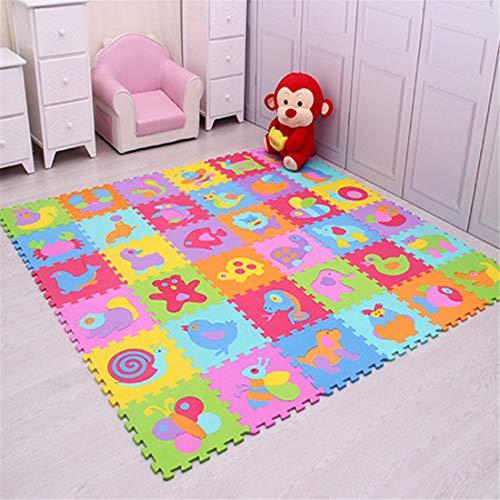 JONARO 9Pcs EVA Foam Baby Play Mat Stitching Crawling Rug Kid Mat Assembled Animal Carpet Puzzle Pad for Children Games