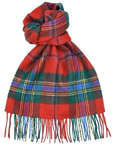 lambswool-scottish-maclean-of-duart-modern-tartan-clan-scarf-gift