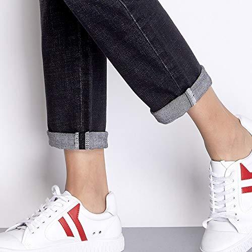 Cotone Donna Autunno Larghi Plus Jeans Rlwfjxh Donn Baffo Effetto Nero Causale Nuovo Sbiancato Size Xxl 3l 83 Denim Boyfridend wnH0q1