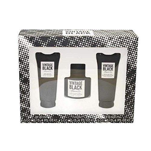 Shave Black After Balm (Kenneth Cole Vintage Black 3 Piece Gift Set for Men (Eau de Toilette Spray, After Shave Balm, Deodorant Stick))