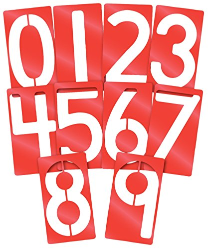 Roylco Big Number Stencils, 5 x 9 Inches, Set of 10 (09 Away Shirt)
