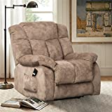 CANMOV Power Lift Recliner Chair – Heavy Duty and Safety Motion Reclining Mechanism-Antiskid Fabric Sofa Living Room Chair with Overstuffed Design, Khaki For Sale