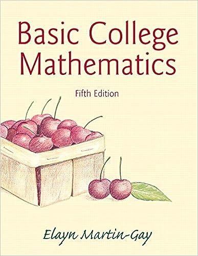 Basic college mathematics 5th edition elayn martin gay basic college mathematics 5th edition 5th edition fandeluxe Choice Image
