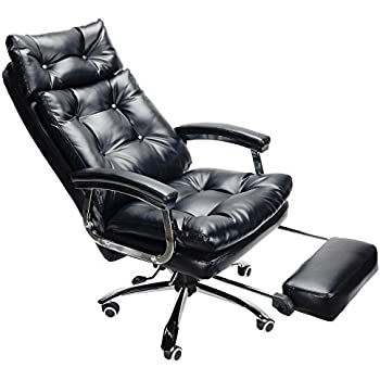 CO Z Double Layered PU Swivel Casters Executive High Back Reclining Napping  Office Chair With