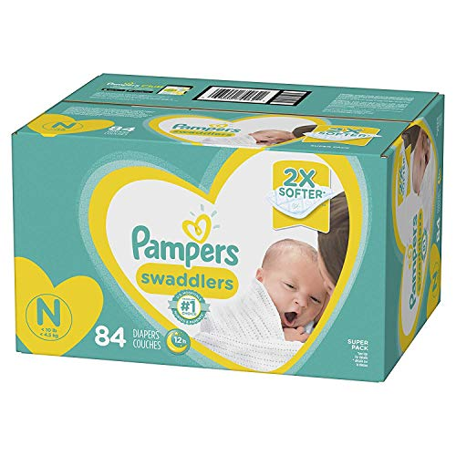 Diapers Newborn / Size 0 (< 10 lb), 84 Count - Pampers Swaddlers Disposable Baby Diapers, Super Pack (Pamper For Newborn)
