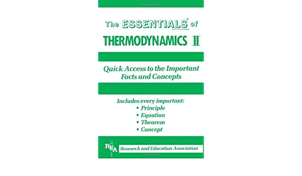 Thermodynamics II Essentials: v. 2