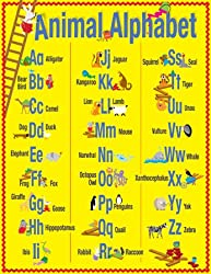 ABC Animals Classroom Say-It Poster