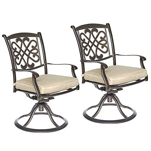 dali Patio Glider Chairs, Swivel Rocker, Garden Backyard Chairs Outdoor Patio Furniture 2 Pcs Sets