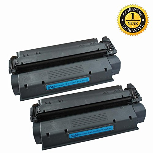 2 Pack GlobalToner compatible Canon CRG-W/CRG-T/FX-8/S35 Toner Cartridge for use with CANON IC D323/340/383, FAX-L390/FAX-398/FAX-L408S/FAX-L360/FAX-380/FAX-400, FAXPhone L170/IC D320/340/360/LC310/510, Pack-D320/Pack-340