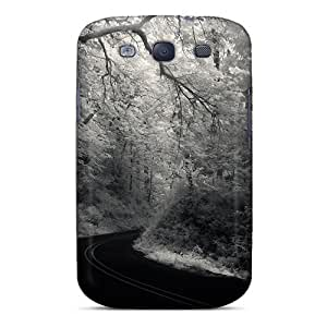 New Arrival Cover Case With Nice Design For Galaxy S3- Fabulous Road Through A Forest In Grayscale
