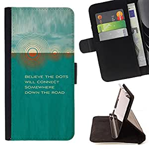 DEVIL CASE - FOR Sony Xperia M2 - Teal Sun Quote Beautiful Poem Nature - Style PU Leather Case Wallet Flip Stand Flap Closure Cover