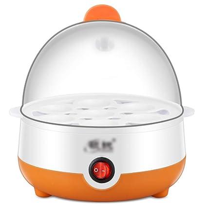 Qjifang Vapor de Huevos, Capacidad para 7 Huevos, Huevos cocidos rápidamente, sartén multifunción