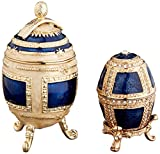 Design Toscano The Royal Family Collection Romanov Style Enameled Eggs: Petyr and Anya