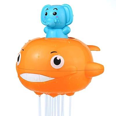Nuheby Juguetes De Baño Elefante Flotante 3 4 5 Año Juguetes Piscina Juegos de Agua Bañera Niños Ballena: Juguetes y juegos