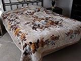 Brand New! Heavy Super Soft King Reversible Korean Style Mink Blanket (Beige)