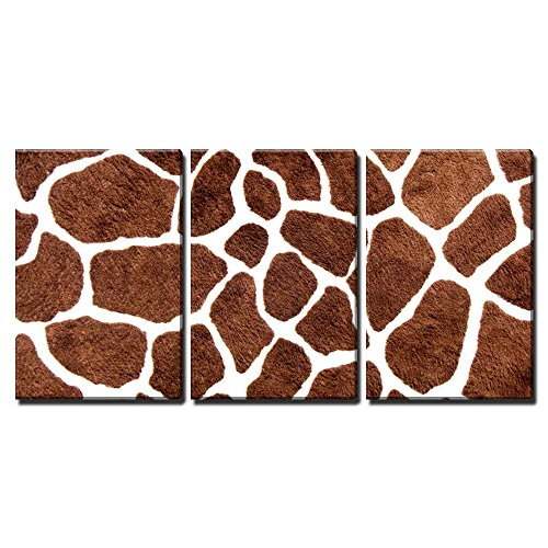 (wall26 - 3 Piece Canvas Wall Art - Giraffe Skin Pattern for Background - Modern Home Decor Stretched and Framed Ready to Hang - 16