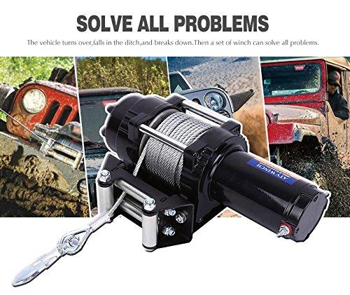 12V 4000lbs ATV Electric Recovery Winch Kit, Wireless Remote Control 12V 4WD ATV UTV Trailer Truck SUV Car by Estink (Image #5)