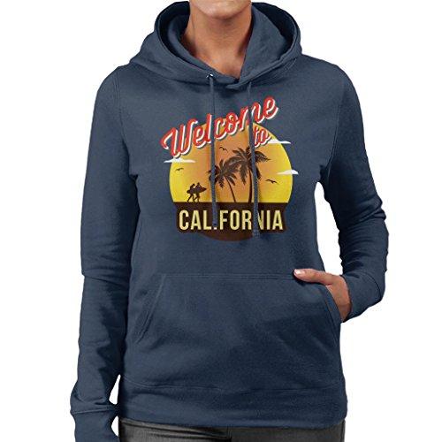 California Sweatshirt To Hooded Coto7 Women's Welcome Navy Blue ax8Bg7qnEw