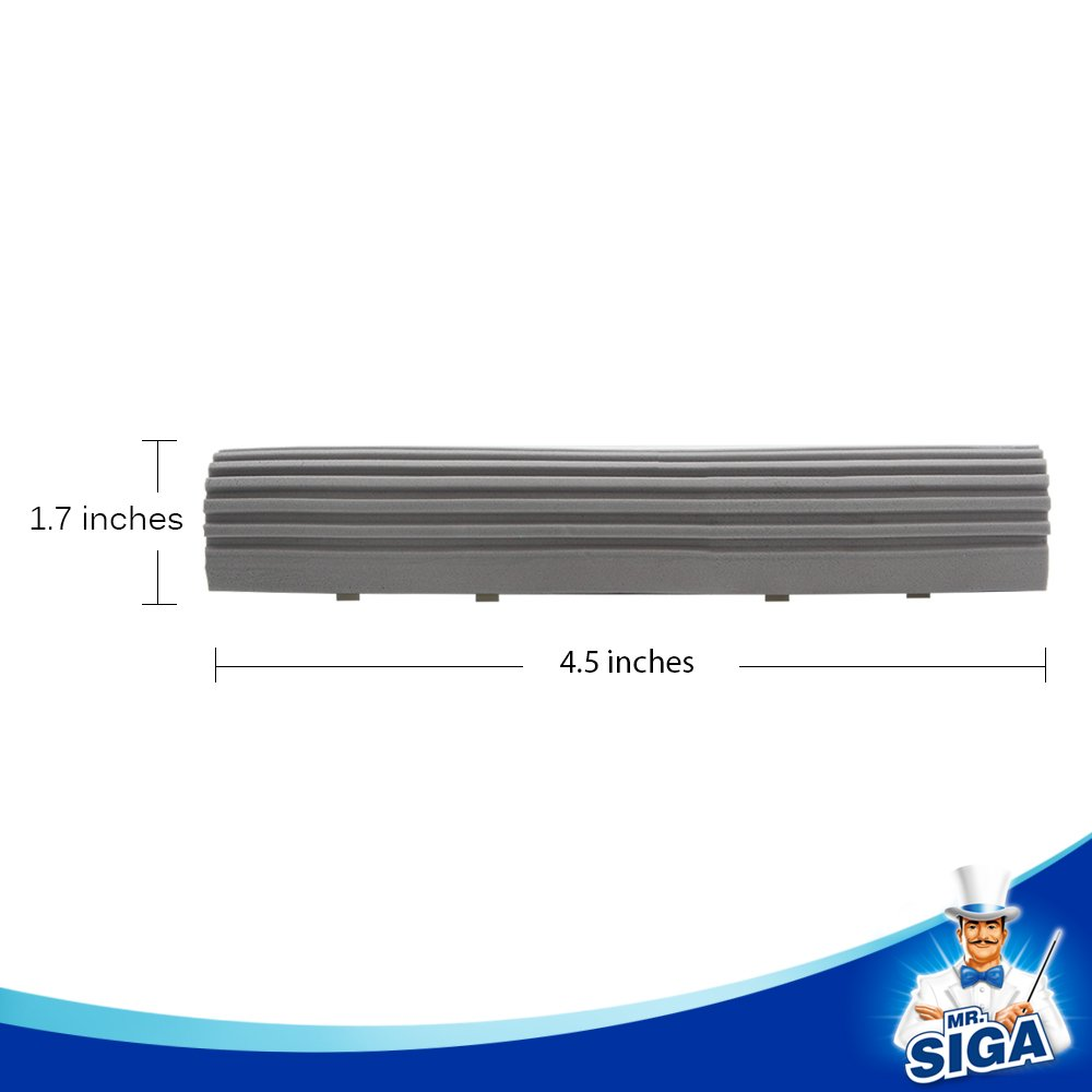 11.5/'/' SIGA Super Absorbent PVA Sponge Mop Head Refills- Replacement for MR SIGA PVA Sponge Mop SJ21533 Grey Size: 11.5cm MR Pack of 3
