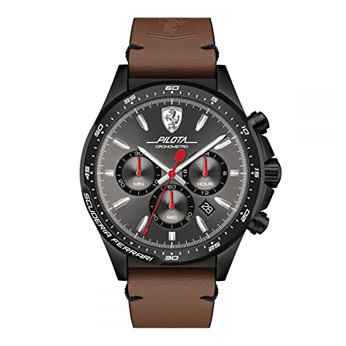 ferrari-mens-pilota-quartz-stainless-steel-and-leather-casual-watch-colorbrown-model-0830392