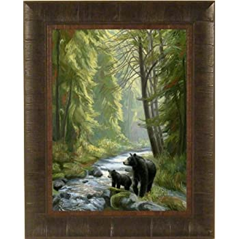 Amazon Com By The Stream By Lucie Bilodeau 17x21 Black