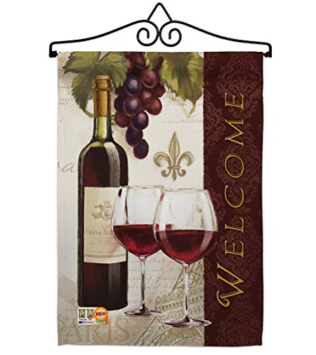 - Breeze Decor GS117053-P3-02 Welcome Wines Happy Hour & Drinks Wine Impressions Decorative Vertical 13