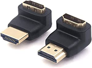 VCE Combo HDMI 90 Degree and 270 Degree Right Angle Male to Female Adapter 3D&4K Supported