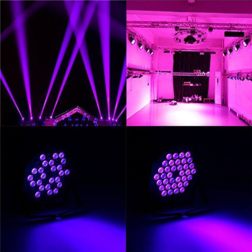 72W Black Light DJ Lights UV Blacklight Stage Spotlight 36 LEDs Auto Lighting Voice Control for Party Wedding Disco Club with Control by Deep Dream (Image #6)