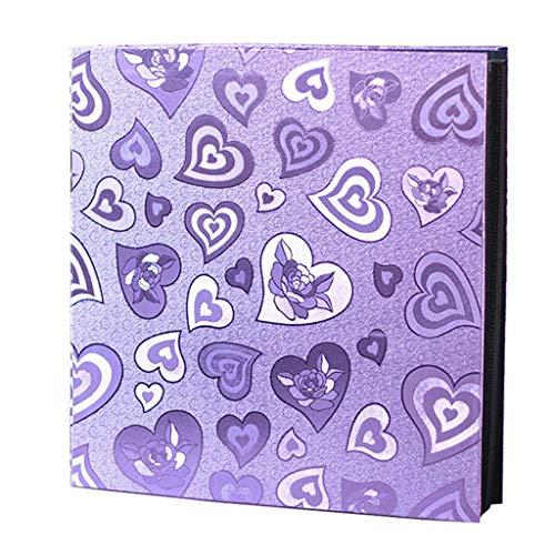 [해외]PU 앨범 결혼 기념일 앨범 혼합 삽입 앨범 가족 성장 앨범 사진 앨범 1200 (색상: 보라색) / PU Album Wedding Anniversary Album Mixed Insert Album Family Growth Album Photo Album 1200 (Color: Purple)
