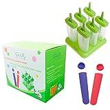 Emolly Kitchen Popsicle Molds Includes 2 Bonus Tubes Dishwasher Safe, Set of 8