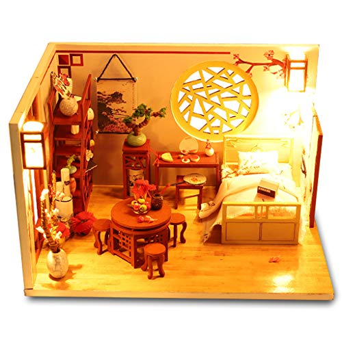 Decorate A Dollhouse - Transser - 3D Puzzles Wooden Handmade Miniature DIY Cabin Dollhouse Kit -DIY House Accessories Dolls Houses with Furniture, Puzzle Decorate, Gift for Women and Girls (1PC)