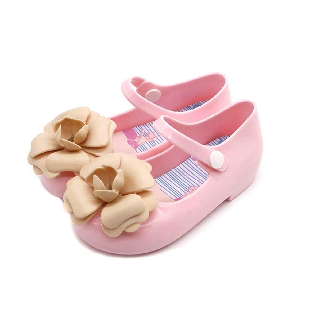 Tenworld Infant Baby Girls Mary Jane Casual Slip On Ballerina Flat Jelly Sandals