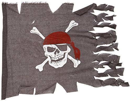Beistle 50050 Weathered Pirate Flag, 29-Inch by 3-Feet 4-Inch