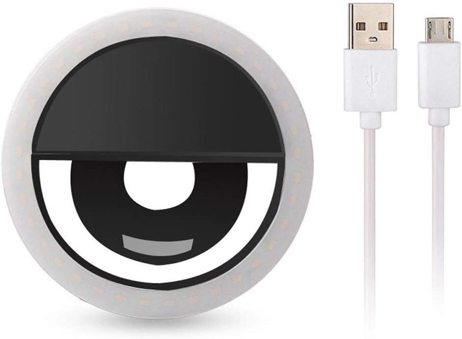 TEXXIS Portable USB Charge LED Camera Phone Photography Selfie Ring Light On-Camera Video Lights
