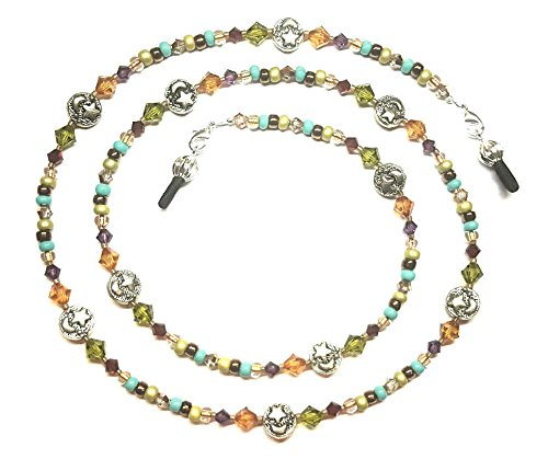 - Earthtones Crystal Moons & Stars Eyeglass Chain Holder