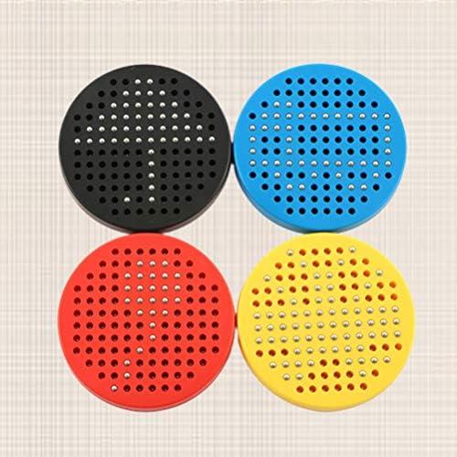 Supvox Kinder magnetisches Reißbrett Lernen früh magnetische Tablette Stahlkugel Schreibblock 4pcs