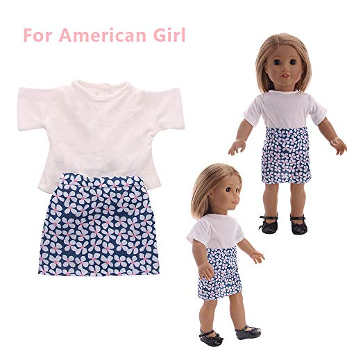 Euone Doll Clothes Clearance , Accessory Toy Daily Costumes Doll Dress for 18 Inch American Girl ()