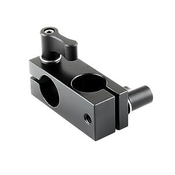 Pack of 2 NICEYRIG 90 Degree 15mm Rod Clamp with Adjustable Screws for Camera Support System Shoulder Rig Tripod System