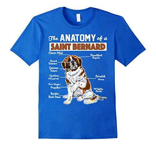 Mens The Anatomy of a Saint Bernard - Funny shirt Small Royal Blue